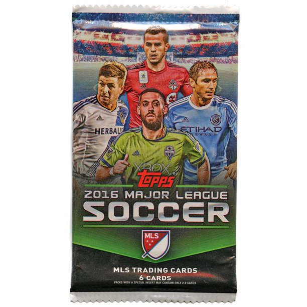Mls Soccer 2016 Major League Soccer Trading Card Pack Walmart Com Walmart Com