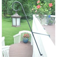 Starlight Garden & Patio Torche Solar Lantern with Curl Top Deck Mount