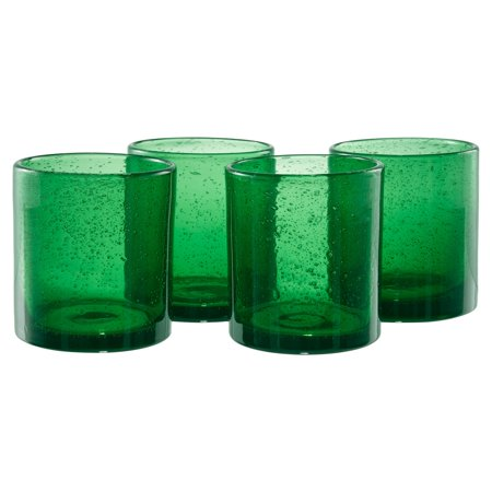 Artland Inc. Iris DOF Glasses - Set of (Green Double Old Fashioned Glass)