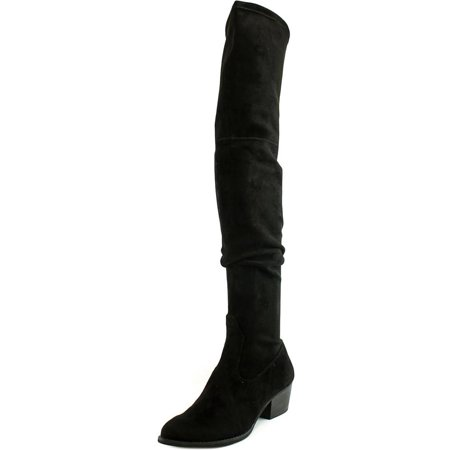 Dolce Vita Sparrow Women  Pointed Toe Suede Black Over the Knee (Dolce Vita Donnie Over The Knee Boot)