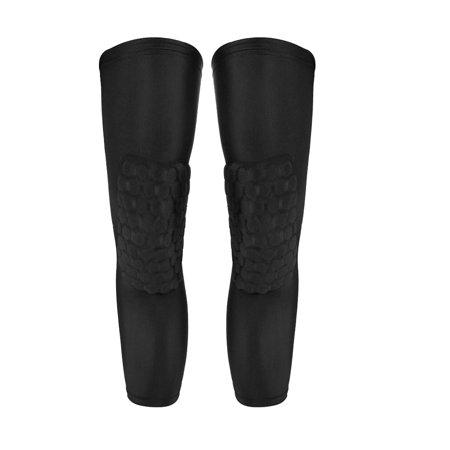Lixada 2PCS Knee Brace Knee Sleeve Pad Basketball Kneepad Calf Support Guard Protector Sports Knee Compression Cellular Protective Sleeve - Power Calf Guards