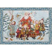 aMonogram Art Unlimited Forest Friends Christmas Hand-Woven Tapestry