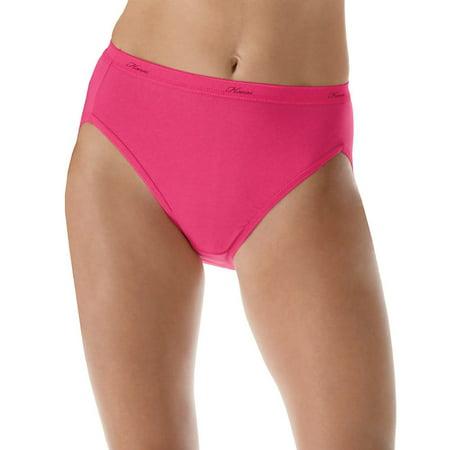 P543WB Womens Plus Cotton Hi-Cut Panties Size - 12 - Assorted ()