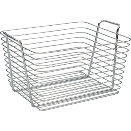 Interdesign Chrome Basket - InterDesign Classico Large Basket, Chrome