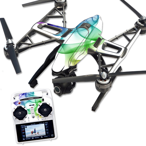 Skin Decal Wrap for Yuneec Q500 & Q500+ Quadcopter Drone Smokey Color