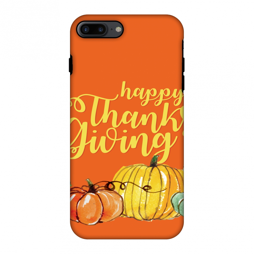 iPhone 7 Plus Case Premium Handcrafted Designer Shockproof Dual Layer Protection Cover Printed Hard Back Case With Screen Cleaning Kit for iPhone 7 Plus- Pumpkin Pattern