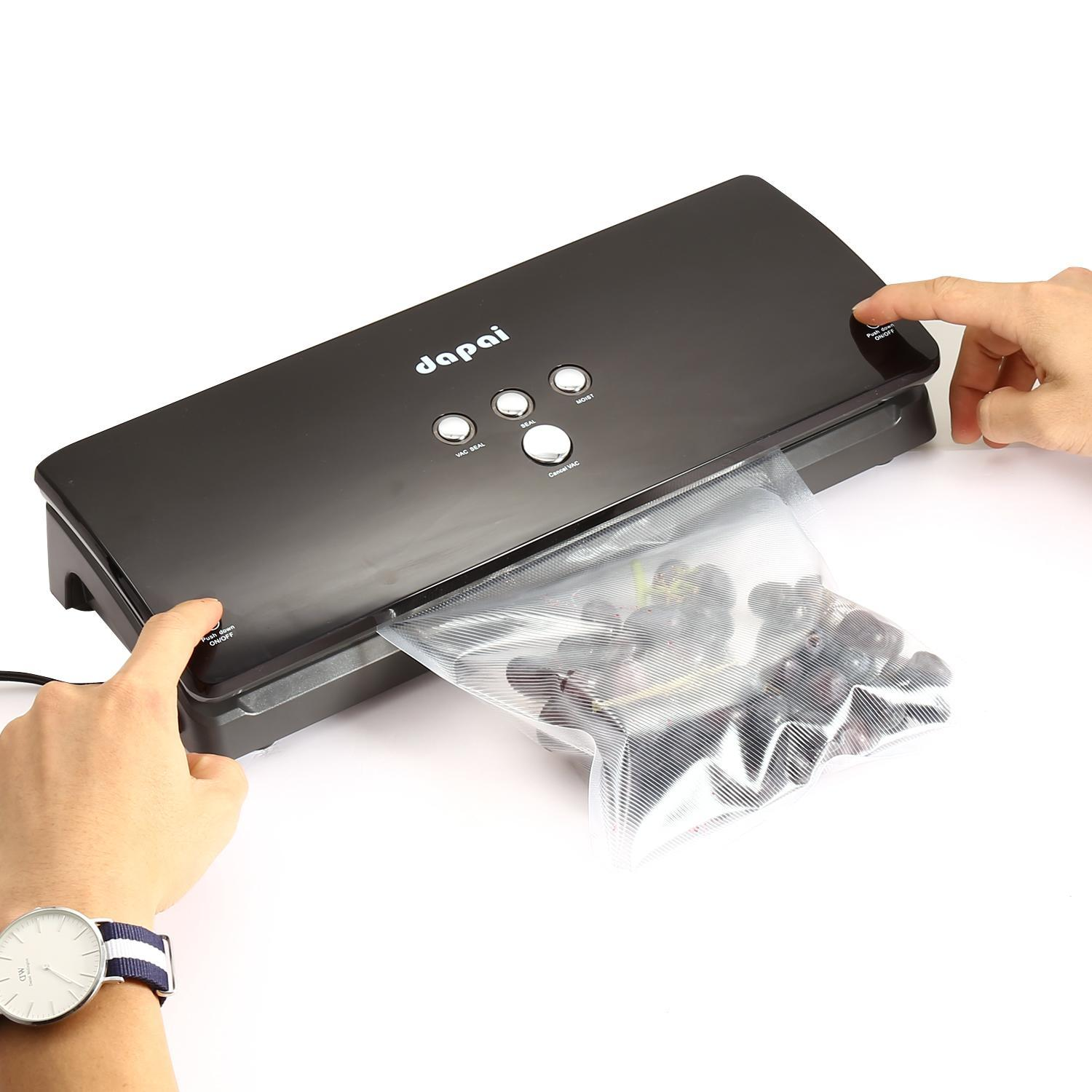 2-in-1 Automatic Vacuum Sealing System with Bonus Built-in Retractable Handheld Sealer & Starter