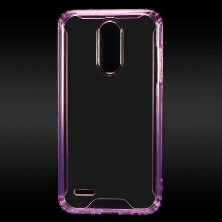 LG Phone Case Clear Slim Protective Cover Lightweight, Soft TPU Bumper Edges & Transparent Hard PC Hybrid Rubber Silicone PINK Cover for LG Aristo 2 /Zone 4 /Fortune 2 /Risio 3 /K8 /K8 Plus (2018)