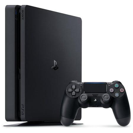 Sony PlayStation 4, 500GB Slim System, Black Play Game System