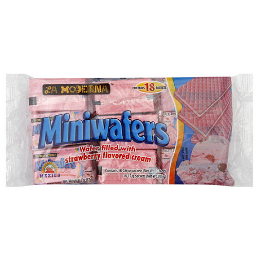 Miniwafers Strawberry Wafers, 0.6 oz, 18ct (Pack of 20)