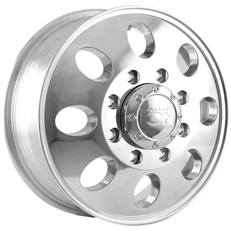 Ion 167 Dually Front 16x6 8x170 +102mm Polished Wheel Rim 16