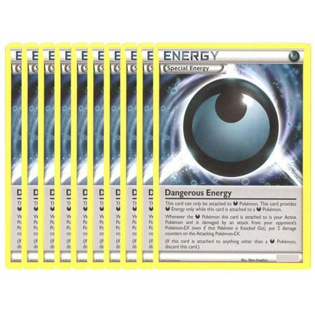 Pokemon Card - LOT OF 10 DANGEROUS ENERGY Cards (Lightning Energy Pokemon Card)