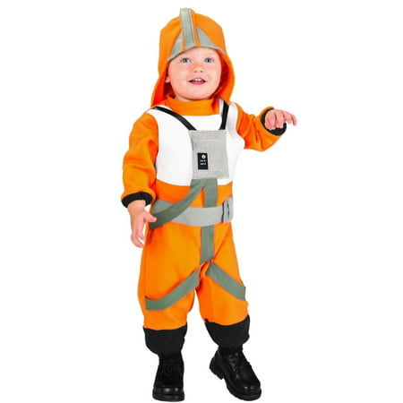 Star Wars Toddler Boys X-Wing Rebel Fighter Pilot Costume Jumpsuit & Hat