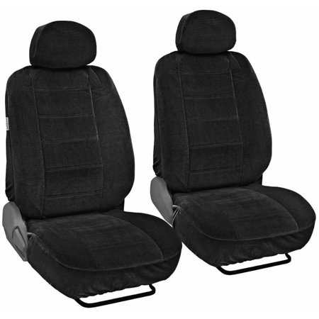 BDK Encore Car Seat Covers, Dotted Cloth 4 Piece Premium Low Back Seat Covers
