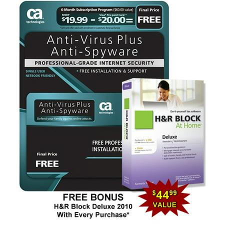 Ca Antivirus Plus Software   6 Month Sub  W  Bonus H Block At Home Deluxe