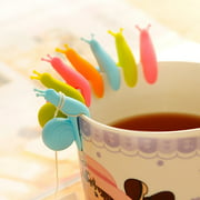 (JPGIF) 10pcs Cute Snail Shape Silicone Tea Bag Holder Cup Mug Candy Colors Gift Set