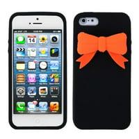 MyBat Black Bow Skin Case Cover For iPhone SE 5S 5