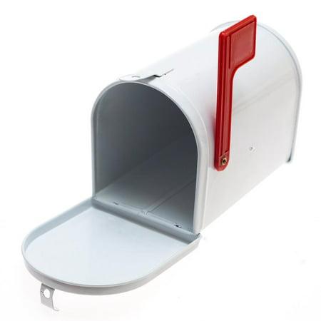 Mini White Tin Mailbox ()