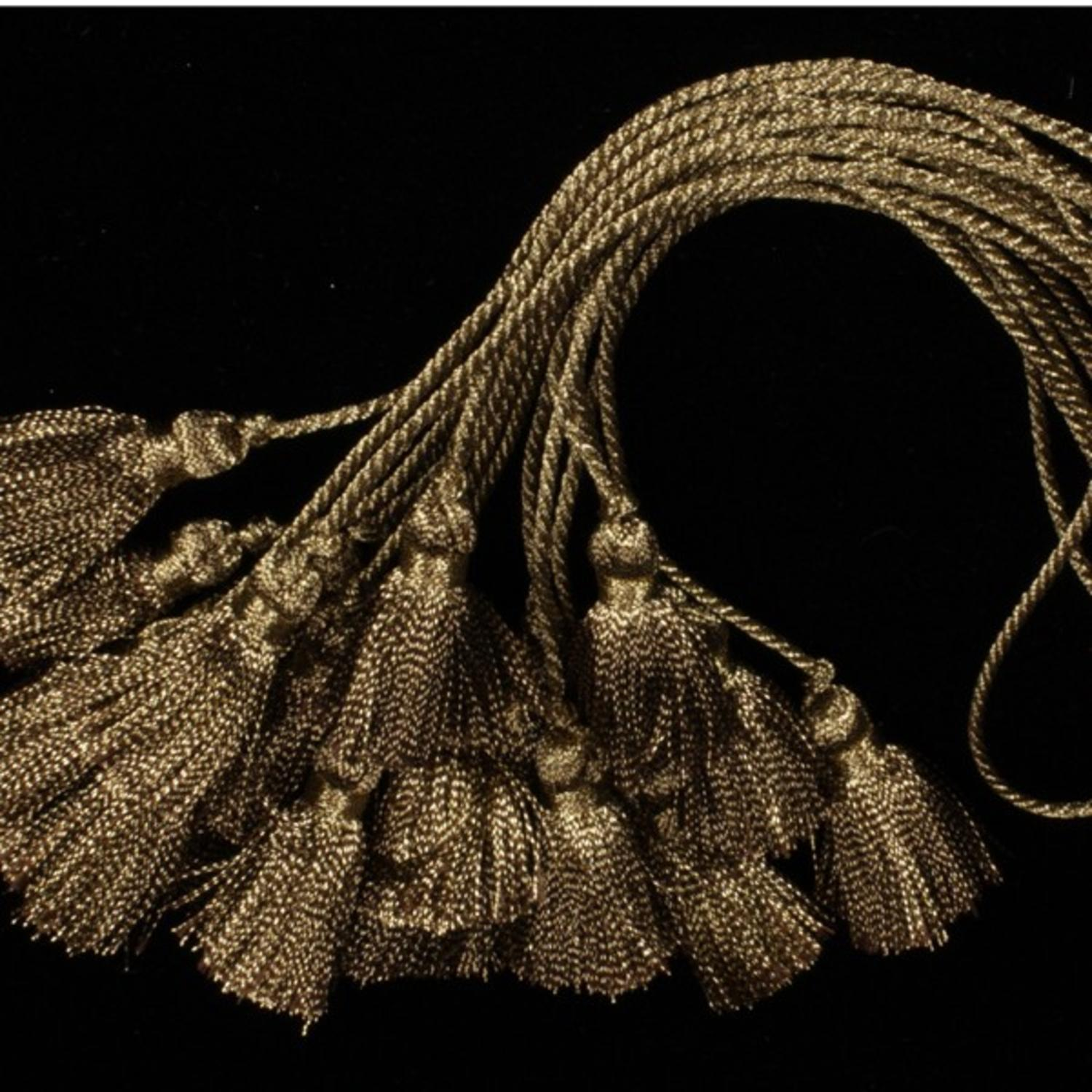 Pack of 10 Small Beautiful Antique Gold Tassels 35mm