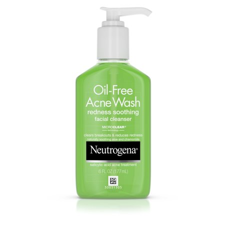 - Neutrogena Salicylic Acid Facial Cleanser for Redness, 6 fl. oz