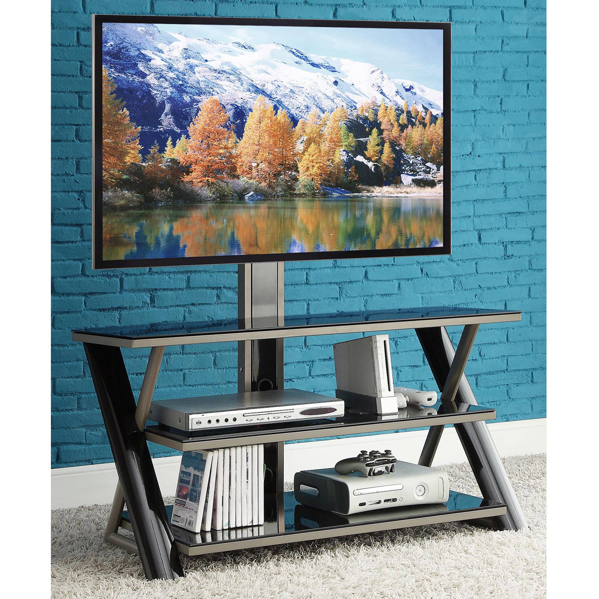 """Whalen 3-in-1 Flat-Panel TV Stand, for TVs up to 50"""""""