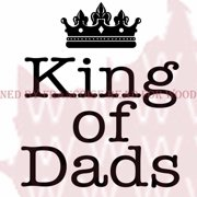 """Woodware Clear Stamps 3.5""""X3.5""""-King Of Dads"""