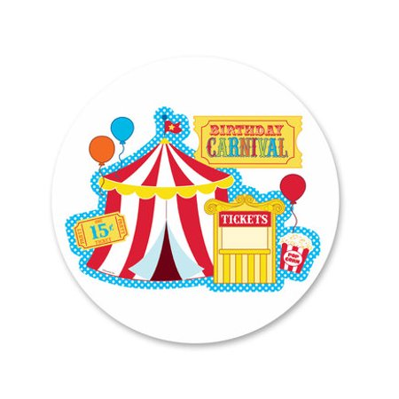 Carnival Edible Icing Image Cake Decoration Topper -1/4 Sheet (Carnival Themed Cake)