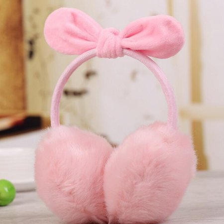 Lady Warm Earmuff Female Imitation Rabbit Hair Adult Cute Bowknot Christmas Gifts in Winter Autumn - image 3 de 3