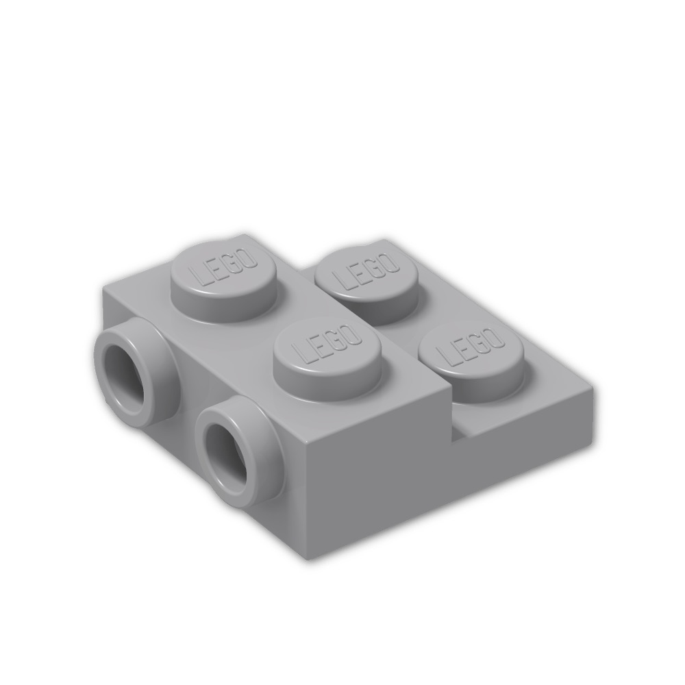 Lego Lot of 100 Light Bluish Gray Plates 3 x 3 Dot Building Blocks Parts