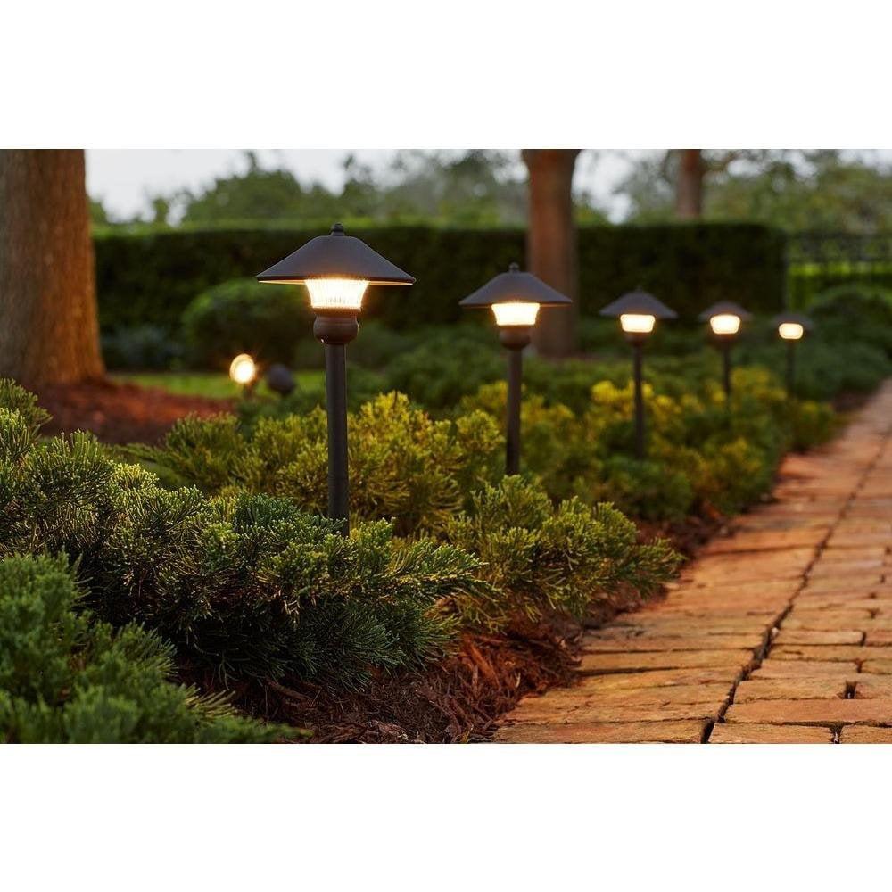 Hampton Bay Low Voltage Bronze Outdoor Integrated Led Light Kit 8