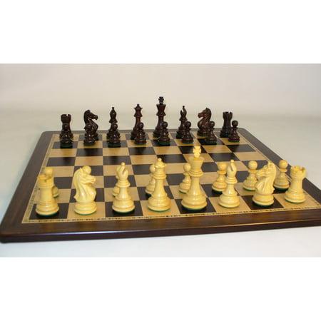 Rosewood Pro on Ebony Birdseye Chess Board