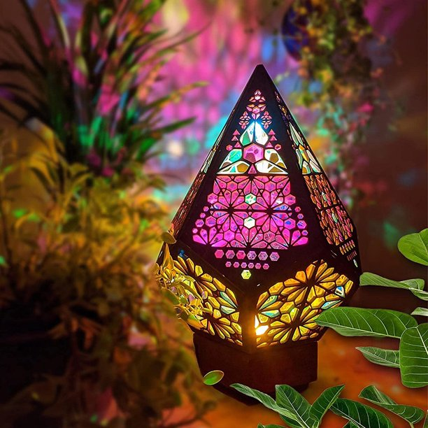 CABINAHOME Polar Star Large Floor Lamp Bohemian Floor Decorative Lamp LED Colorful Diamond Lights Colorful 3D Projection Night lamp Creative Gift Desk Lamp for Home,Party,Wedding,Halloween,Christmas