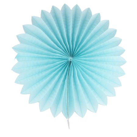 Paper Blossom Fan Flower Blue for Party Birthday Festival Wedding Home Decor - Paper Fans For Weddings