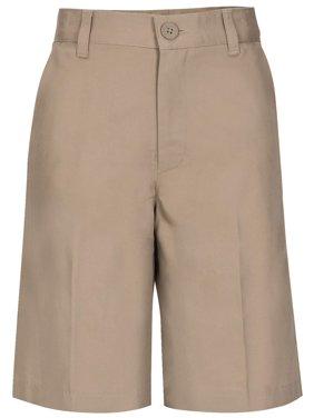 Real School Husky Boys School Uniform Flat Front Shorts (Husky)