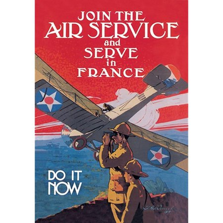 Buyenlarge Join The Air Service And Serve In France Do It Now By Verrees Wall Decal  36 H X 24 W