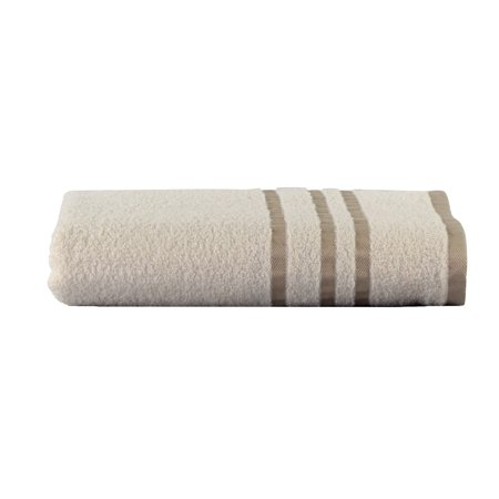 Mainstays Basic Bath Collection - Single Bath Towel, Vanilla Stripe