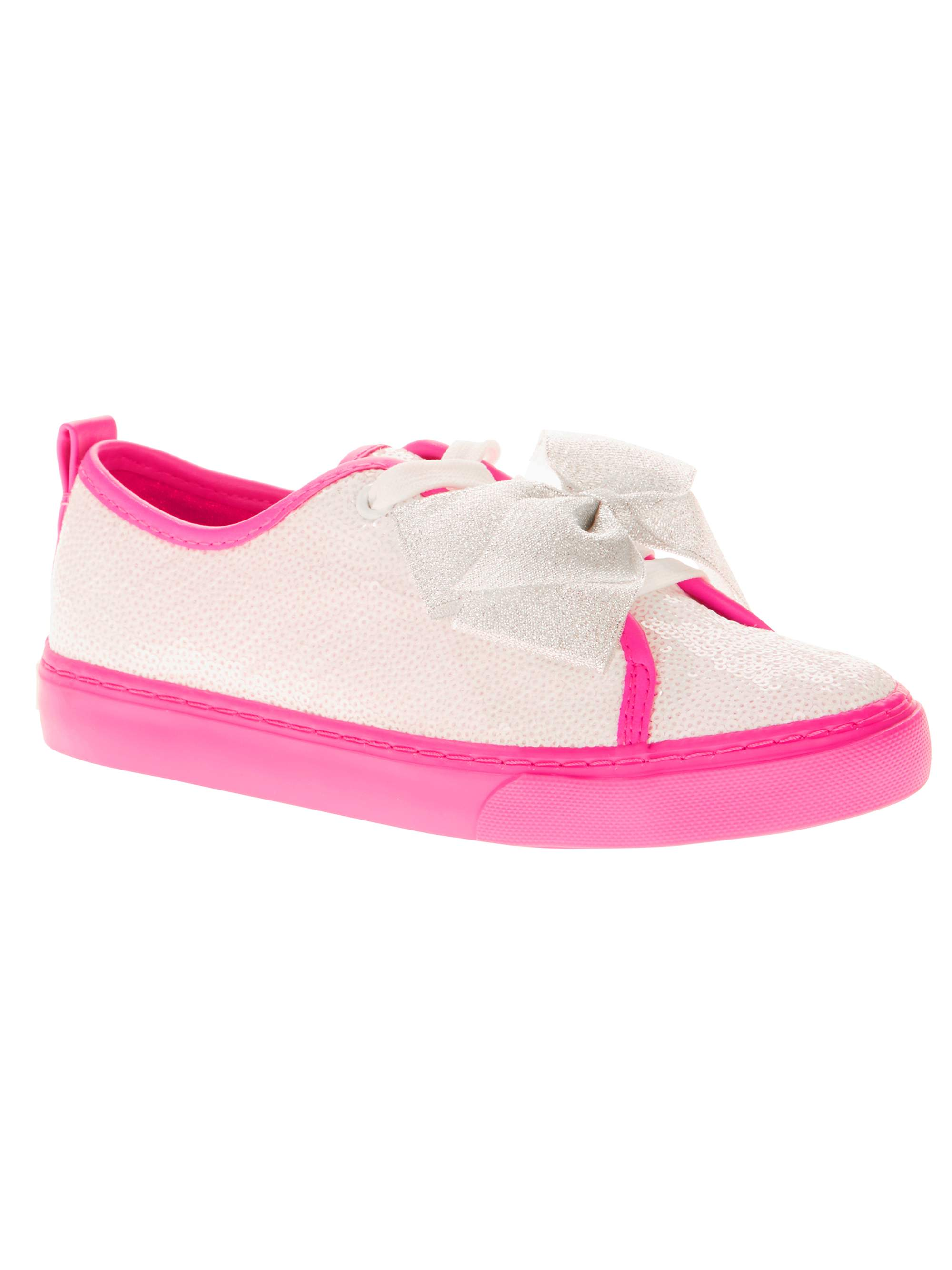 Jojo Siwa Girls' Reverse Sequin Low Top Casual Sneaker