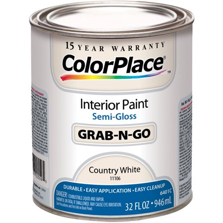 Colorplace Grab N Go Country White Semi Gloss Interior Paint 1 Quart