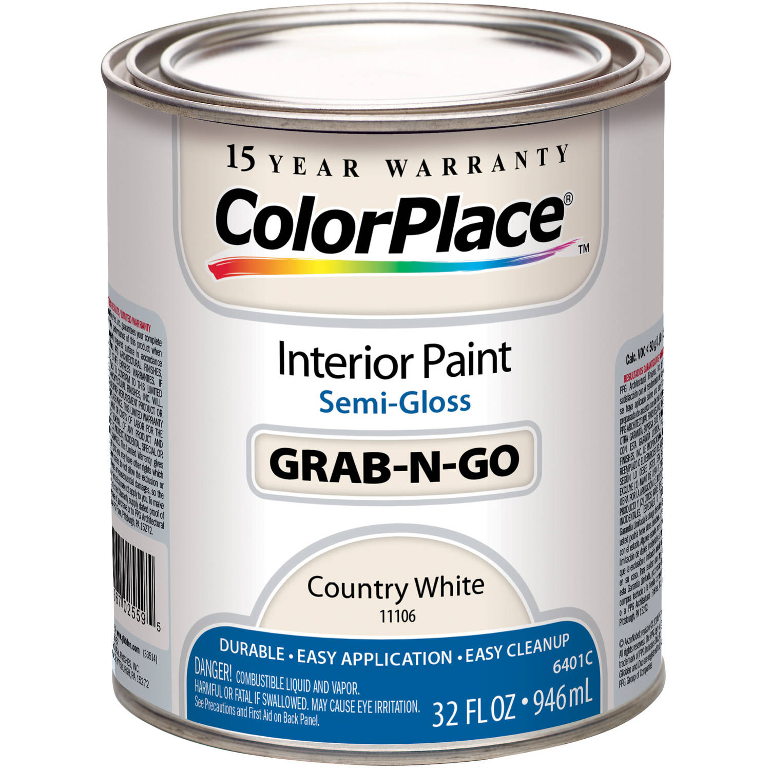 Colorplace Cp Country White Flat Interior Paint Qt