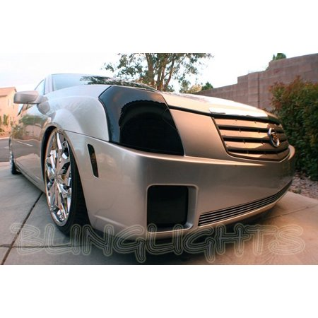 New Cadillac CTS Smoked Headlamp Overlays Murdered Out Light Covers