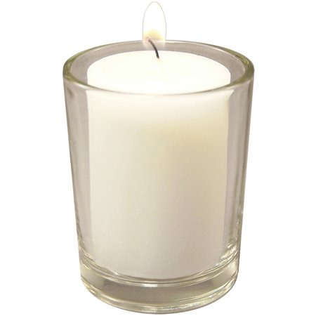 Votive Candles and Glass Holders in Clear or Frosted - Set of - Votive Candles And Holders