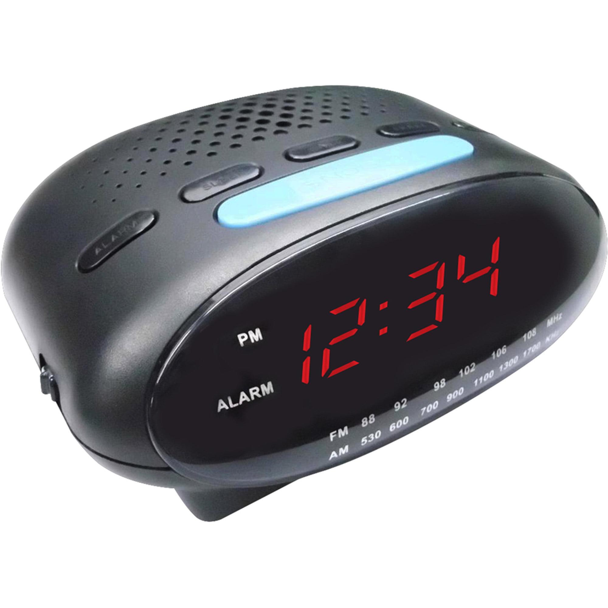 """Craig 0.6"""" Dual Alarm Clock PLL AM/FM Radio with BT"""