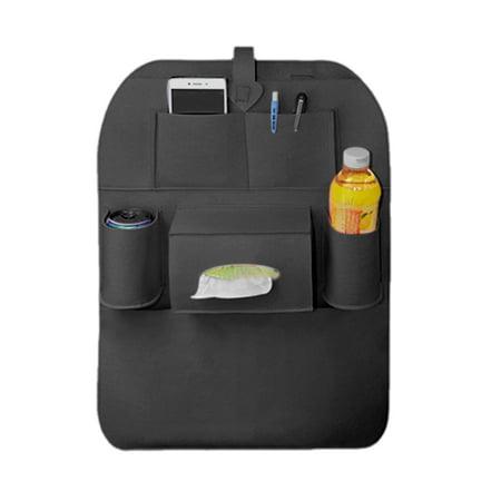 Black Car Multipurpose  Back Holder Interior Accessory Organizer (Interior Flat Pocket)