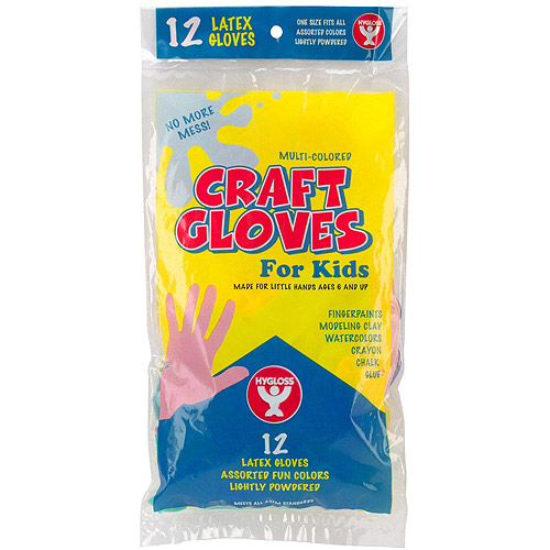 Kids Craft Gloves, 12pk, Assorted Colors