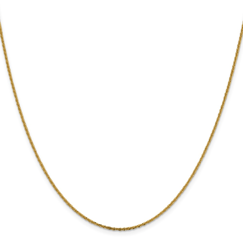 14k Yellow Gold 16in 1.50mm Cyclone Necklace Chain