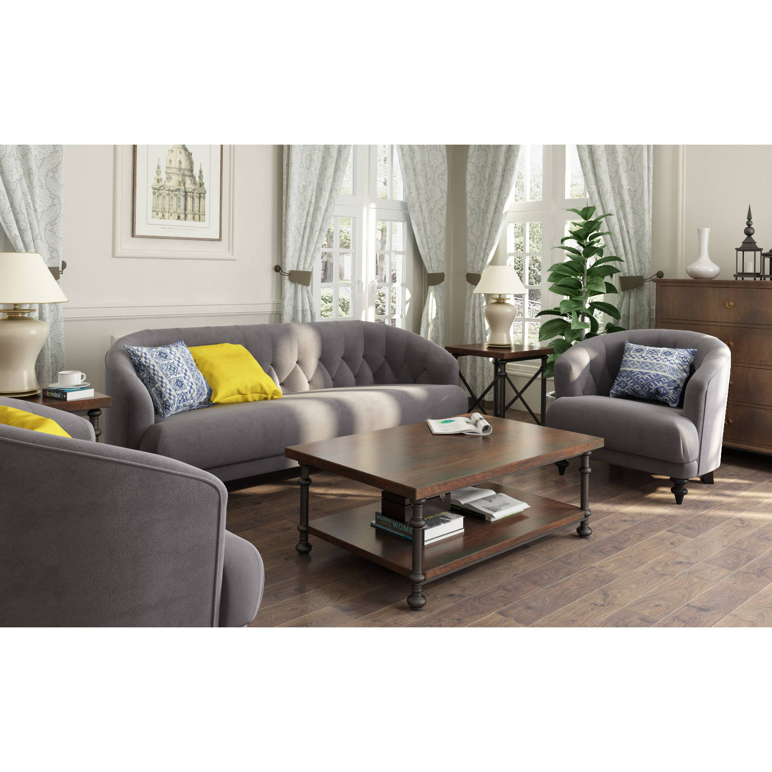 Tufted Memory Foam Accent Chair   Walmart.com