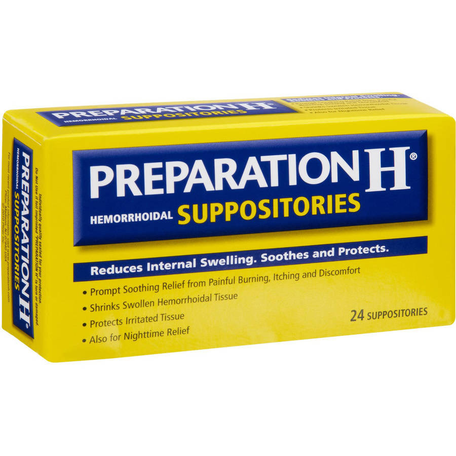 Preparation H Hemorrhoidal Suppositories, 24 CT (Pack of 3)