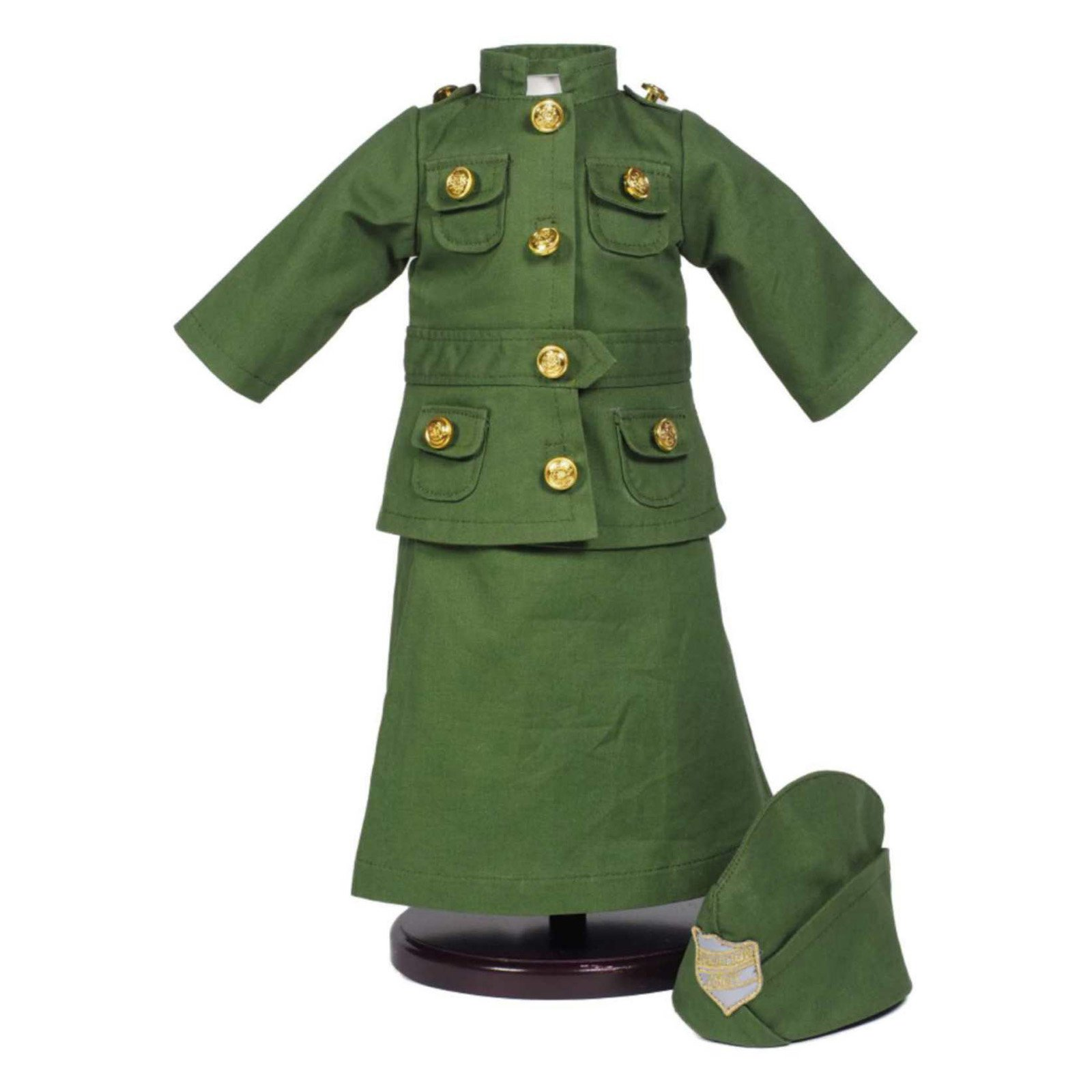 18 Inch Doll Historic Clothes Outfit, Three Piece WWI Salvation Army Uniform