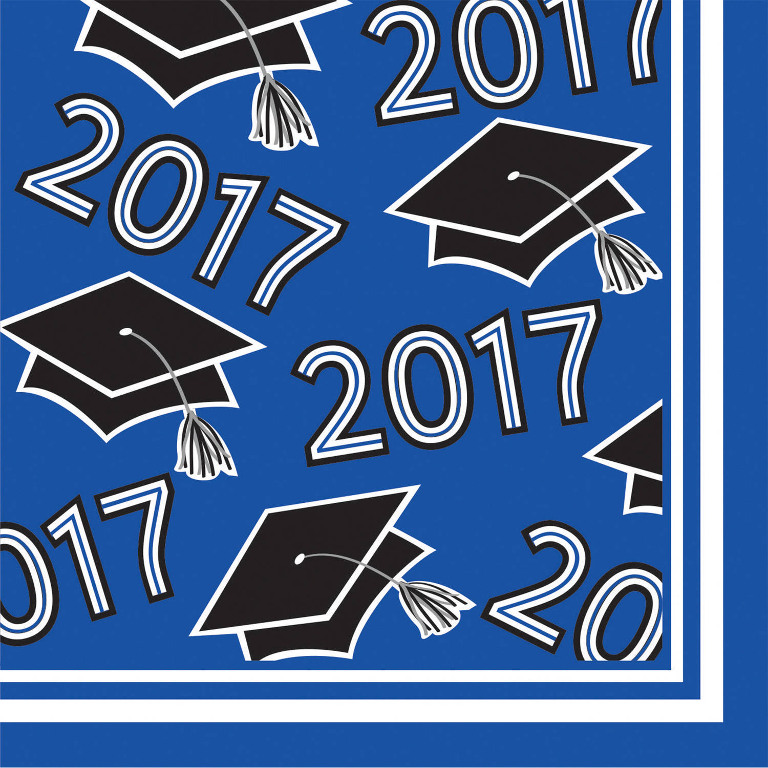 Class of 2017 Cobalt Blue Beverage Napkins, 36pk by