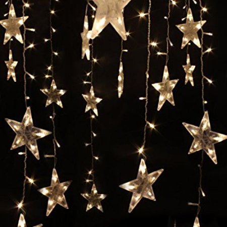 Festival Party Decorations Tree lights Indoor and Outdoor String Lights 120  Leds 3M 10ft Five-pointed Star String Lights For Bedroom, Patio, Parties ...